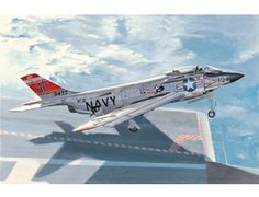 The Hobby Boss McDonnell F3H-2 Demon Model Kit in 1/48 scale from the plastic aircraft model range accurately recreates the real life US carrier-borne interceptor aircraft used before the Vietnam War. This plastic aircraft kit requires paint and glue to complete.