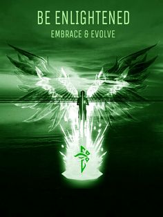 Embrace & evolve Ingress Enlightened, Humor, Marketing, Craft, Green, Table, Anime, Design, Hug