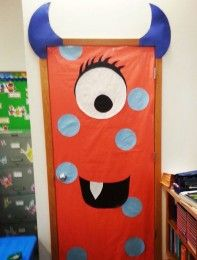 Junior monster door - Halloween party ideas: Monster Doors