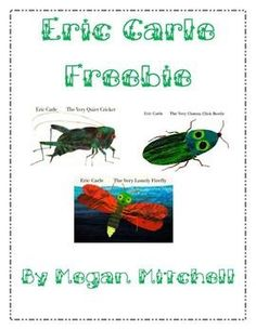 Enjoy some free activities to go with Eric Carle's stories:The Very Clumsy Click BeetleThe Very Quiet CricketThe Very Lonely Firefly...