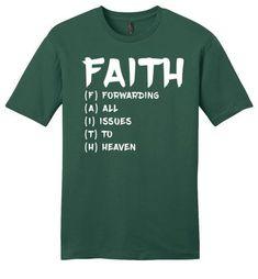 FAITH Acronym - Mens Tee - Evergreen / 2XL