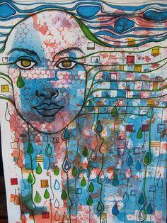 Hundertwasser Influence 4 by Mixed Media Martyr, via Flickr