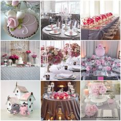pink and gray wedding ideas | Classic Weddings and Events: Pink and Grey Wedding Ideas