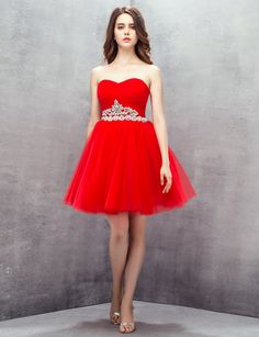 Strapless Sweetheart A-line Ball Gowns Short Homecoming Prom Dresses  8870f4261963