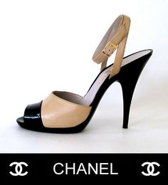 Gorgeous Shoes from Chanel! ...Ankle Strape Two Tone Sandals