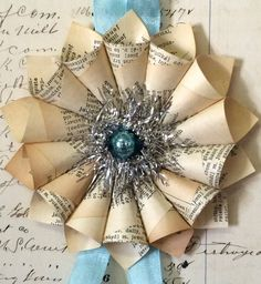 Small Paper Cone Wreath Holiday w/a Vintage by luckygirlgoods