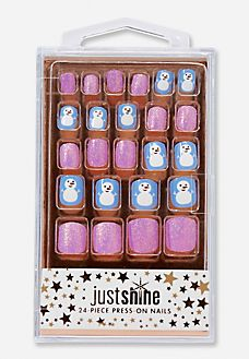 Snowman Press-on Nails
