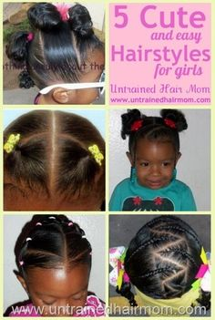5 Cute, Easy and Creative Natural Hairstyles for Girls by isabel