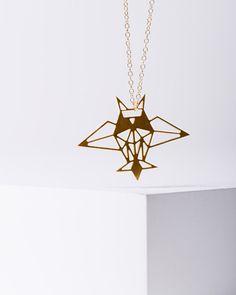 MIZYAN's geometric Owl necklace geometric accessories by HananMass