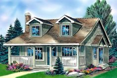 The best micro cottage home floor plans. Find tiny cabins, small modern guest houses, compact 2 story & 4 bed plans & more! 2 Bedroom House Plans, Cottage Style House Plans, Cottage Style Homes, Cottage House Plans, Country House Plans, Country Style Homes, Cottage Design, Small House Plans, House Floor Plans