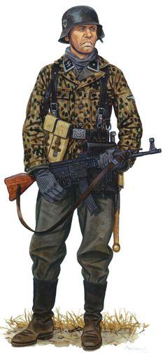 Unterscharführer SS , the 1st SS Panzer Division Leibstandarte SS Adolf Hitler…