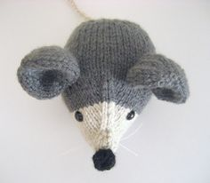 Amigurumi Pattern Knit Mouse PDF by AmyGaines on Etsy, 2.00