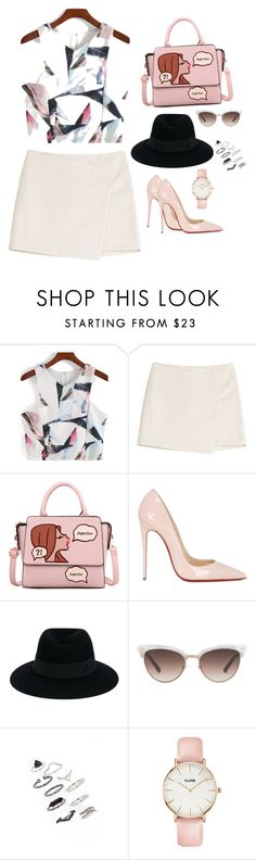 """Untitled #16"" by chocolatequeen18 ❤ liked on Polyvore featuring Marc by Marc Jacobs, Christian Louboutin, Maison Michel, Gucci, Topshop and CLUSE"