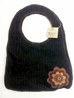 Alyssa Antique Handbag - 15x20 - A Prim felted wool handbag that is simply cute! $44.95 TO ORDER: greenlifestylebiz@gmail.com - Greenlifestylebiz on Facebook/Suzi M Green Interior Decorator Mpls MN on Pinterest