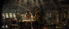 ArtStation - Assassin's Creed IV: Black Flag - Captain's quarter concept , TEO YONG JIN