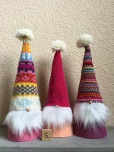 Cute Scandinavian Sweater Gnomes, set of 3, tomte, nisse, tomten, nissen, group…