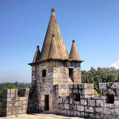 Castelo de Santa Maria da Feira in Santa Maria da Feira, Aveiro