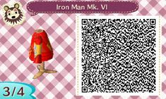 Cute QR codes I find for Animal Crossing: New Leaf! Iron Man Poster, Acnl Paths, Ac New Leaf, Animal Crossing Qr Codes Clothes, Tumblr, My Animal, Neiman Marcus, Blog, Animals