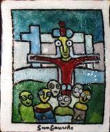 Voir Crucifiction de SANFOURCHE Jean Joseph