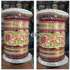 The bridle chuda gold plated 1 year guarantee only on Krishnam 9099021021 Ethnic Jewelry, Indian Jewelry, Gold Jewelry, Women Jewelry, Wedding Chura, Wedding Lehnga, Bangle Set, Bangle Bracelets, Chuda Bangles