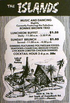 The Islands vintage restaurant menu