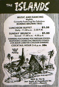 The Islands vintage restaurant menu