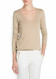 $59.99 nice MANGO Women's Strass Details Sweater