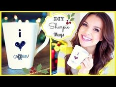 Easy DIY Craft: Decorating Coffee Mugs (Video) - Try this creative project using permanent marker and simple steps for a unique and personalized gift or for yourself! #DIY #craft #gift #markers #cup #video