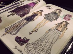 fashionary sketches on the Behance Network