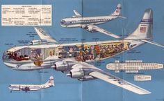 Pan-American Airlines Stratocruiser (Source: b377.ovi.ch) Pan Am Stratocruiser aviation vintage air travel