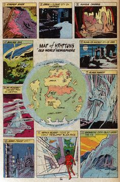 Map of Krypton Old World
