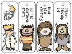 """Where the Wild Things Are"", by M. Sendak, Set of 4 Bookmarks Baby Birthday, First Birthday Parties, First Birthdays, Golden Birthday, Party Activities, Literacy Activities, Preschool Literacy, Preschool Crafts, Kindergarten"