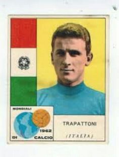 Giovanni Trapattoni of Italy card for the 1962 World Cup Finals. Football Italy, World Cup Final, Finals, Baseball Cards, Chile, Sports, Legends, World Of Sports, Grass