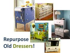 great ideas for an old dresser