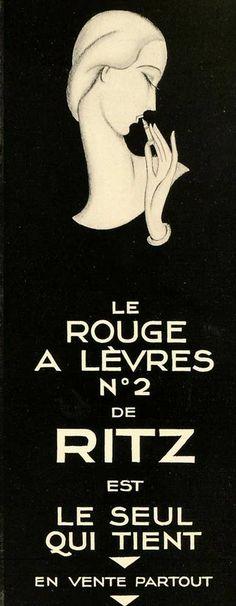 1928 vintage lipstick ad