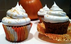 Pumpkin Spice Cupcakes from Jessica's Kitchen are the perfect way to enjoy the fall flavors!  Gluten free, Dairy Free, Soy Free, OAMC Freezer Cooking