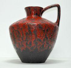 XL VASE KRUG   FAT LAVA  W.GERMANY H - 40cm  WGP Pottery  Floor Vase ES ?