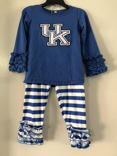 13571fe9f4640 Girl's Kentucky UK Outfit Perfect attire for Kentucky Basketball or  Kentucky Football Gameday! LoLo's Closet Co · Boutique Clothing