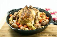 Simple Garlic Herb Roast Chicken