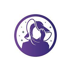 Vector Logo Design, Logo Design Template, Hijab Logo, Company Symbol, Dress Logo, Free Logo Templates, Learning Logo, Islamic Art Pattern, Photoshop Images