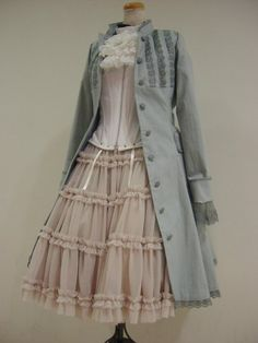 There's something about small double ruffles like the ones on this skirt that's really appealing. Also, I love Lolita-style coats.