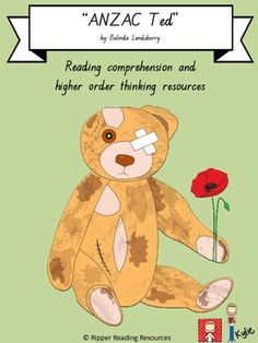 """This is a freebie from my resource to support higher order thinking and reading comprehension using the picture book, """"ANZAC Tec"""" by Belinda Landsberry.The freebie is a template that can be used for classroom displays. Older students could write adjectives to describe ANZAC Ted within the template before lightly shading the picture, for classroom display.The complete resource is currently over 60 pages and will be uploaded in the next couple of days, so follow me on TPT so that you are…"""