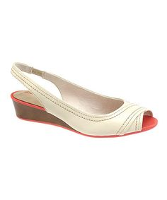 Take a look at this Off-White Candid Slingback - Women by Hush Puppies on #zulily today!