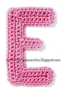Alphabet crochet A - M (not english) Crochet Home, Cute Crochet, Crochet Motif, Crochet Baby, Knit Crochet, Crochet Stars, Crochet Flowers, Crochet Alphabet Letters, Amigurumi For Beginners