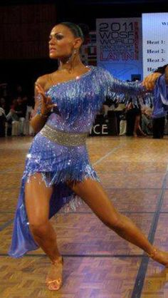 Blue Latin dress like skirt Ballroom Costumes, Latin Ballroom Dresses, Latin Dance Dresses, Ballroom Dance Dresses, Ballroom Dancing, Dance Costumes, Salsa Dress, Dance Outfits, Dance Wear