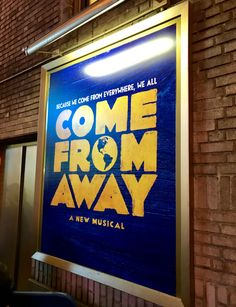 Why I can't recommend Broadway's Come From Away enough! Music Theater, Theatre, Come From Away, Off Broadway Shows, My Dream Came True, Cursed Child, Find People, Mean Girls, Scary
