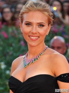 Scarlett Johansson Cleavy at 'Under the Skin' Venice Premiere