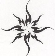 Tattoo-Tribal Sun by HollowMinded. - Tattoo-Tribal Sun by HollowMinded. Trendy Tattoos, Love Tattoos, Body Art Tattoos, Tattoos For Women, Tattoos Skull, Sun Tattoo Tribal, Tattoo Moon, Simple Tribal Tattoos, Widder Tattoo