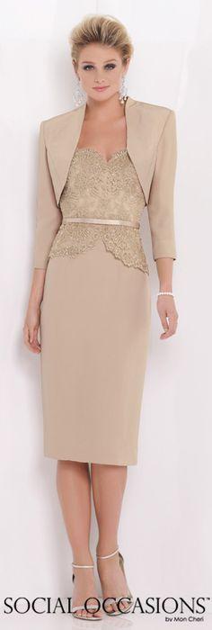 Social Occasions by Mon Cheri Spring 2015 - Style No. 115859 socialoccasionsbymoncheri.com #eveningdresses #motherofthebride