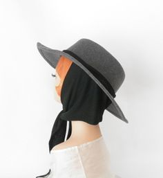 Vintage fedora hat with scarf/ gray Betmar by TheVintageHatShop, $41.00